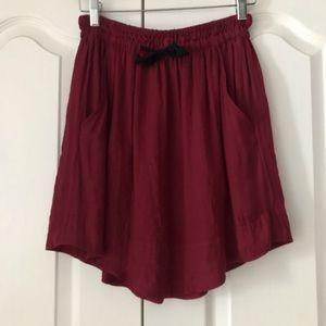 Isabel Marant Etoile Red Burgundy Short Skirt 34 0